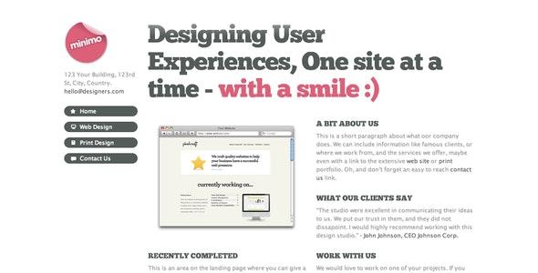 Minimo - A minimal one page portfolio theme - Portfolio Creative