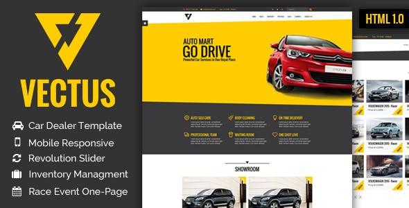 VECTUS - Car Dealership & Business HTML Template