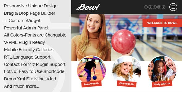 Bowl - Responsive Bowling Center WordPress Theme