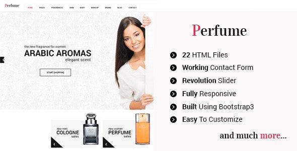 Perfume - Responsive e-commerce HTML5 Template - Shopping Retail