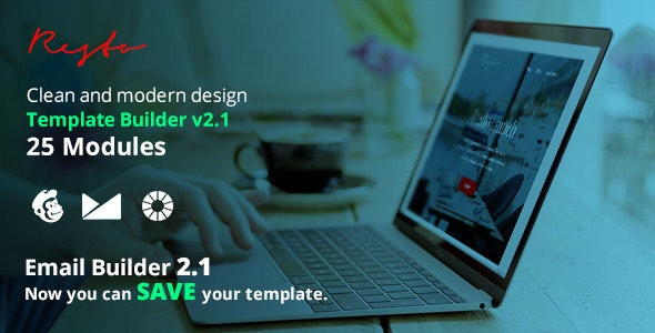 Resto Email Template + Emailbuilder 2.1 - Newsletters Email Templates