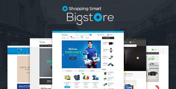 Bigstore Responsive Magento 2.x & 1.9 Theme - Shopping Magento