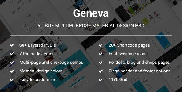 Geneva - A True Multipurpose Material Design - Creative Photoshop