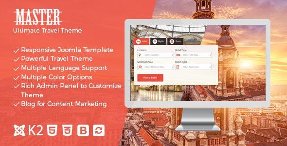 Master - Ultimate Travel Theme for Joomla - Travel Retail
