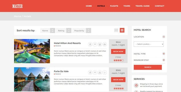 Master - Ultimate Travel Theme for Joomla