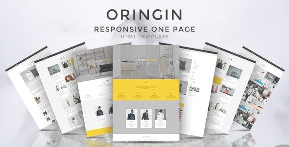 Oringin - Onepage HTML5 Template - Corporate Site Templates
