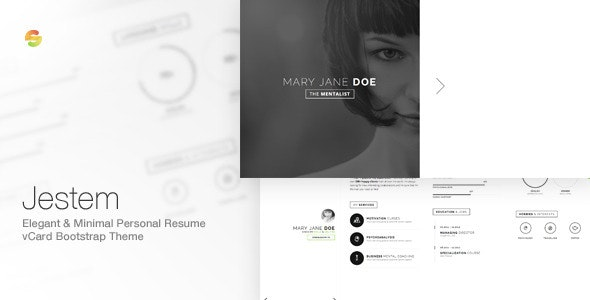 Jestem - Elegant & Minimal Resume vCard Theme  - Personal Site Templates