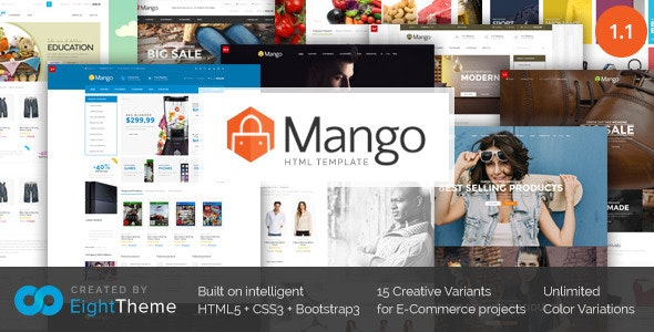 Mango | Responsive Ecommerce HTML5 Template - Shopping Retail
