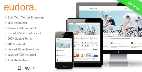 Eudora :  Responsive Multi Purpose Corporate Theme - Corporate WordPress