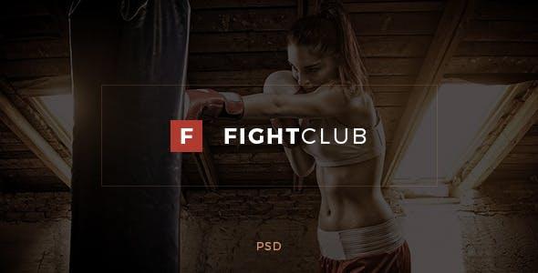 Fightclub Fight Fitness Club Psd Template