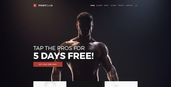 FightClub - Fight & Fitness Club PSD Template