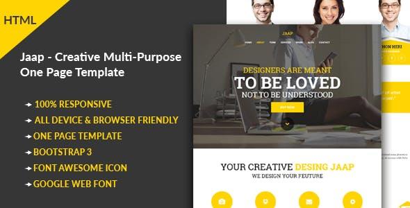 Jaap - Creative Multi-Purpose HTML Template