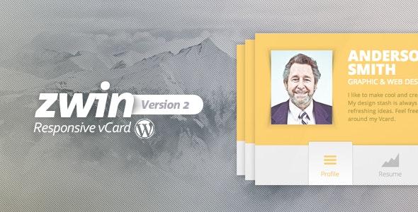 Zwin - Responsive vCard Wordpress Theme - Portfolio Creative