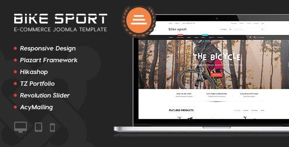 Bike Sport - Hikashop Joomla Template - Shopping Retail