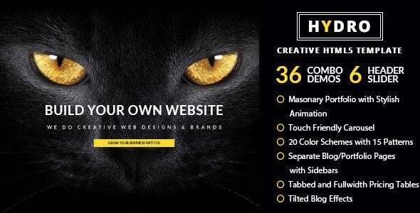 HYDRO - Multipurpose Onepage Template - Creative Site Templates