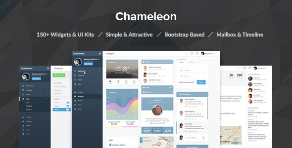 Chameleon Admin PSD Template - Miscellaneous Photoshop