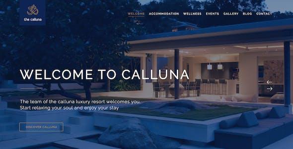 Calluna - Hotel, Resort & Spa PSD Template
