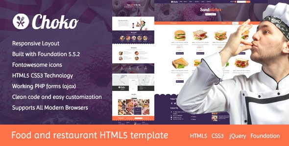 Choko - Chef & Food HTML5 Template - Food Retail