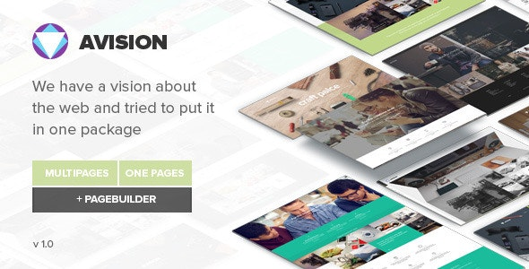 Avision - MultiPurpose HTML5 Template - Corporate Site Templates