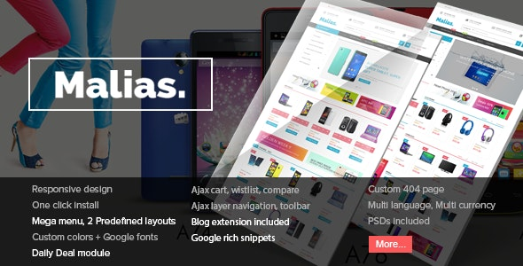 Malias - Responsive Prestashop Theme - Technology PrestaShop
