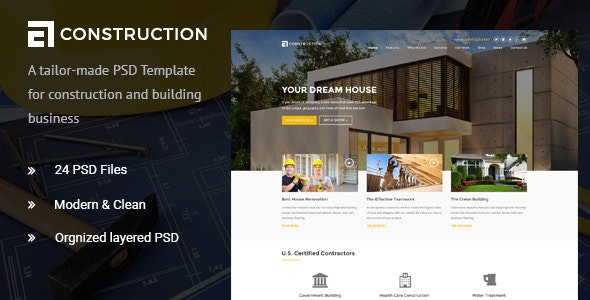Construction - Construction & Building PSD - Corporate Photoshop