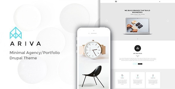 Ariva - Minimal Drupal Theme with Builder - Portfolio Creative