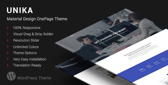 Unika | Responsive Material Design WordPress Theme - Portfolio Creative