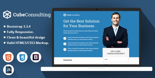 Cube Consulting - HTML Landing Page Template
