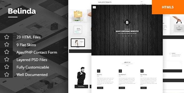Belinda Agency & Portfolio Template - Portfolio Creative