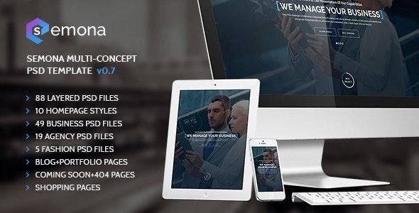 Semona Multi-Concept PSD Template - Business Corporate