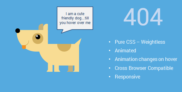 Cute Pure CSS Animated Animals 404 Pages - 404 Pages Specialty Pages