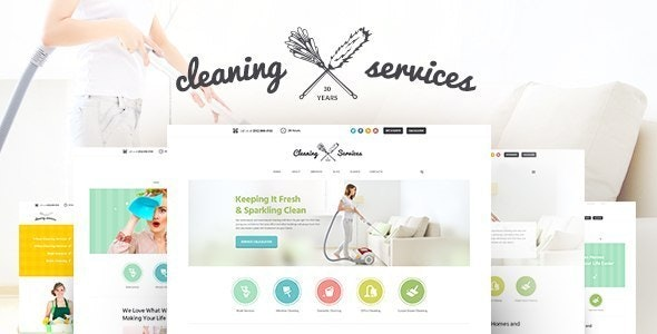 Cleaning Company - Maid & Janitorial Housekeeping Service WordPress Theme - Business Corporate