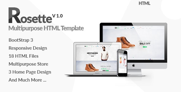 Rosette - Fashion Store HTML Template - Shopping Retail