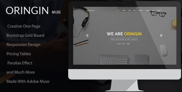 Oringin - Creative Onepage MUSE Template  - Corporate Muse Templates