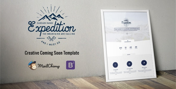 Expedition - Responsive Coming Soon - Under Construction Specialty Pages