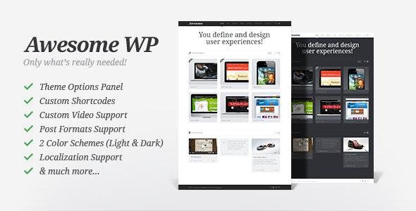 Awesome WP - Portfolio Theme - Portfolio Creative