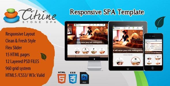 CITRINE STONE SPA Responsive Template - Health & Beauty Retail