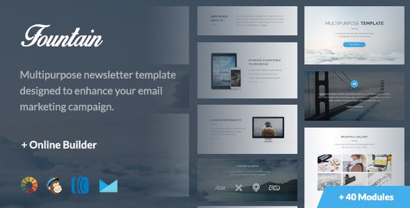 Fountain - Modern Email Template + Online Editor