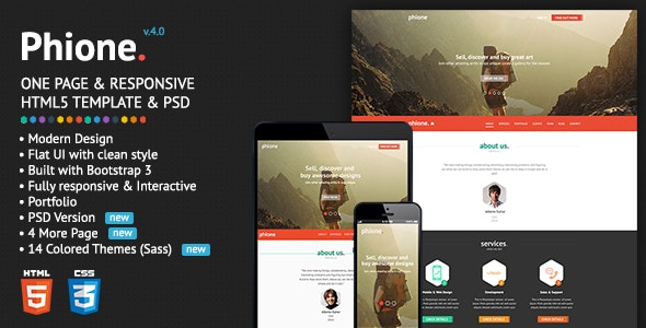 Phione - Onepage Parallax Responsive HTML Template - Business Corporate
