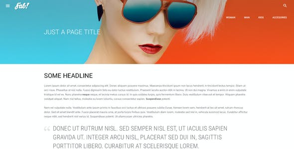 FAB! - Material Design Retail Shop PSD