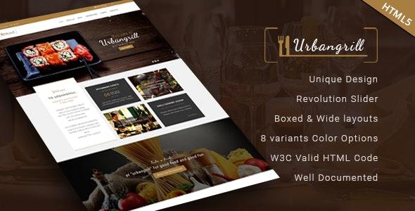 Urbanrgill - HTML5 Restaurant Template - Restaurants & Cafes Entertainment