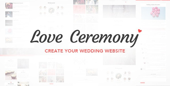 Love Ceremony - Wedding PSD Template - Events Entertainment