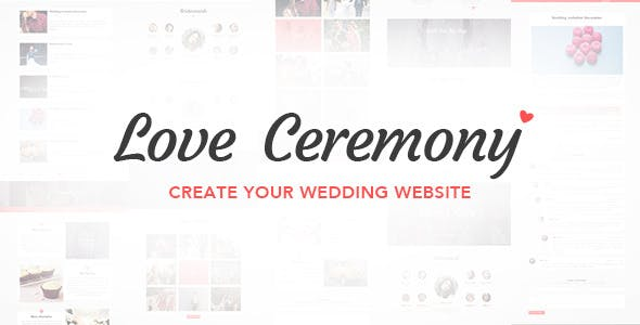 Love Ceremony - Wedding PSD Template