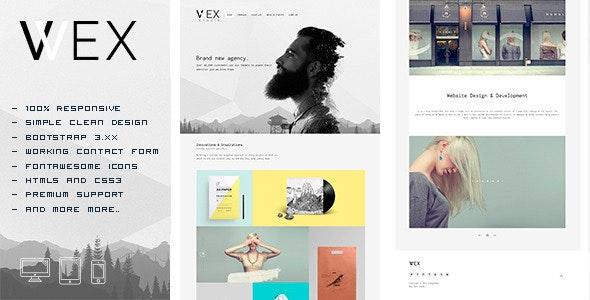 WEX - Minimalistic HTML Portfolio Template - Portfolio Creative