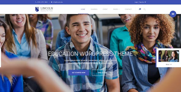 Lincoln | Educational Material Design PSD Theme