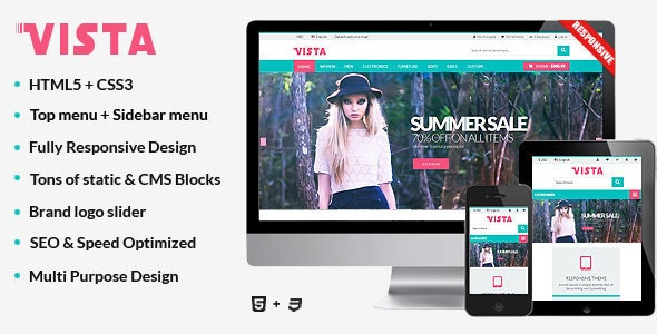 Vista - Responsive Multipurpose HTML5 Template - Shopping Retail
