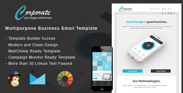 Corporate - Responsive Email + StampReady Builder - Email Templates Marketing