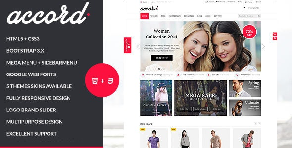 Accord - Responsive Multipurpose HTML5 Template - Shopping Retail