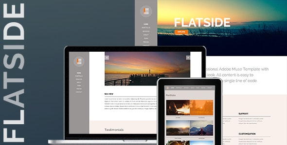 Flatside - MultiPage Muse Template - Creative Muse Templates