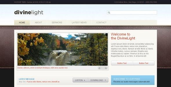 DivineLight - Premium HTML Template - Churches Nonprofit